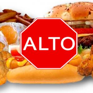 No más comida grasos
